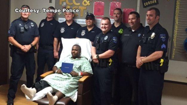 Police Deliver Diploma