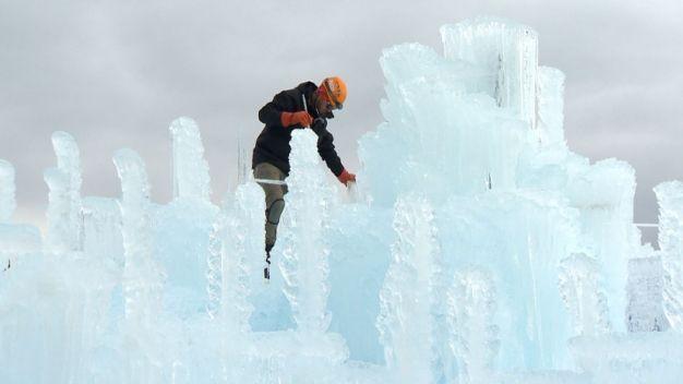 An Ice Castle Wonderland Takes Shape in Colorado