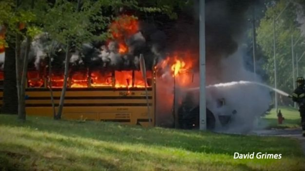 Driver Rescues Students From Burning School Bus