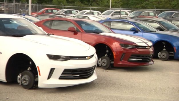 Tire Thieves Leave TX Chevy Dealer Flat