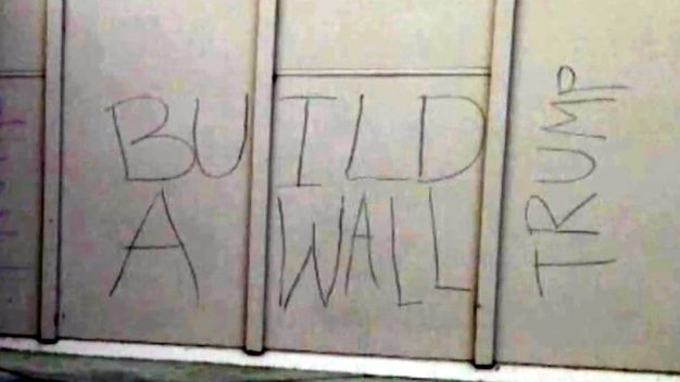 High School Tagged With Trump Graffiti