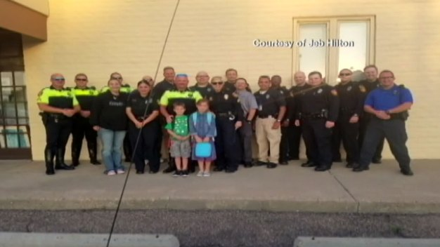 Back to School Escort for Late Officer's Children
