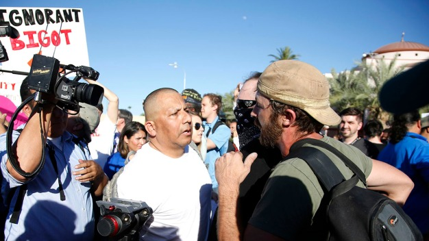 Protesters Face Off at Phoenix