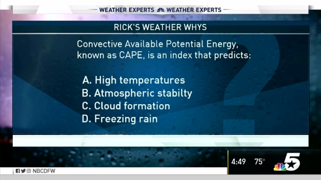 Weather Quiz: Convective Available Potential Energy