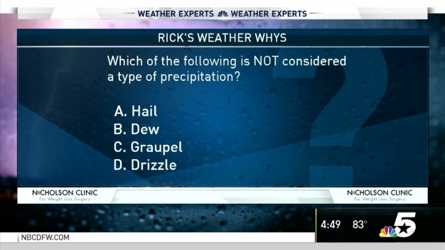 Weather Quiz: Which is Not Precipitation?