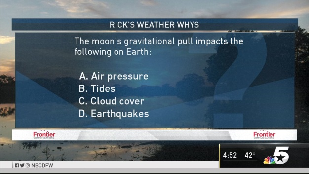 Weather Quiz: Moon's Gravitational Pull