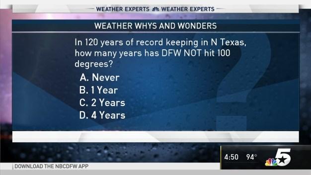 Weather Quiz: 100 Degree Heat