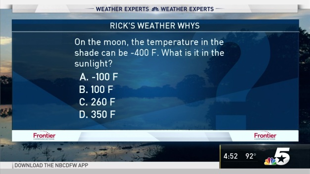 Weather Quiz: Temperature on the Moon