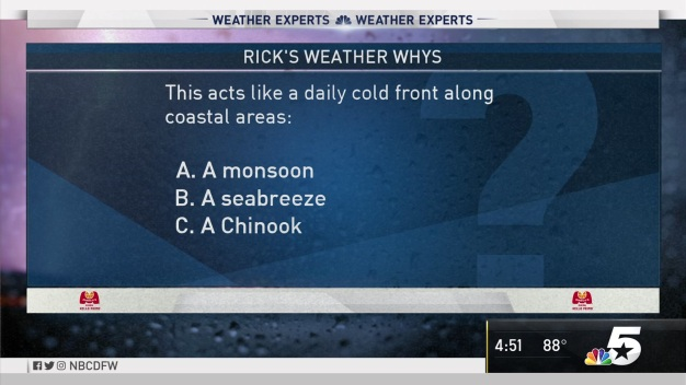 Weather Quiz: This Acts Like a Daily Cold Front Along Coastal Areas