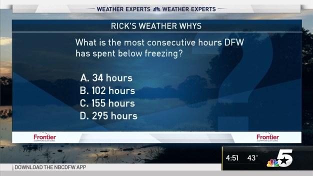 Weather Quiz: Hours Below Freezing