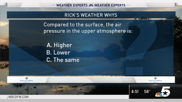 Weather Quiz: Air Pressure in the Upper Atmosphere