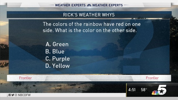 Weather Quiz: Rainbow Colors