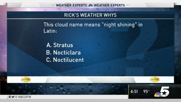 Weather Quiz: Which Cloud Name Means 'Night Shining'?