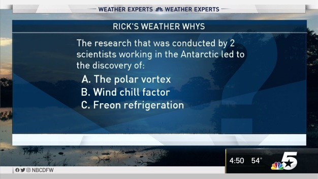 Weather Quiz: The research That Was Conducted by Two Scientist Working in the Antarctic Led to the Discovery of What?
