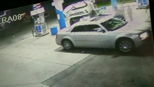 Surveillance Video Captures Car Slam Into Gas Pump