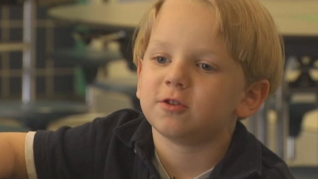 Boy Who Fell From Window Starts School