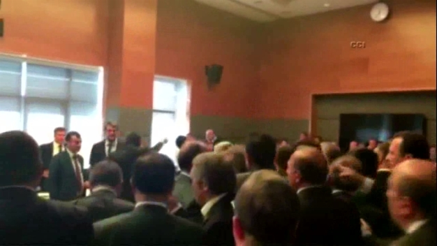 Turkish Parliamentary Scuffle Caught on Video