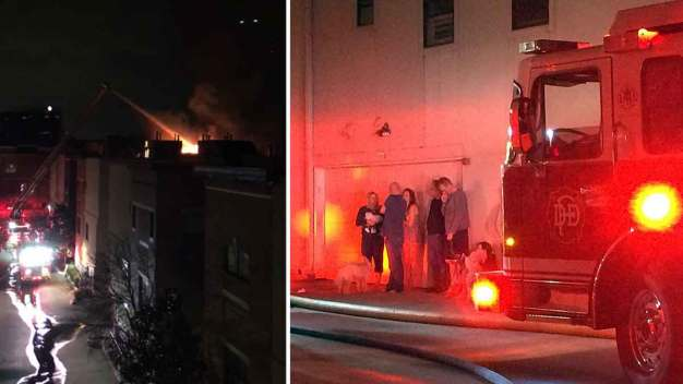 Firefighters Respond to Uptown Townhome Fire