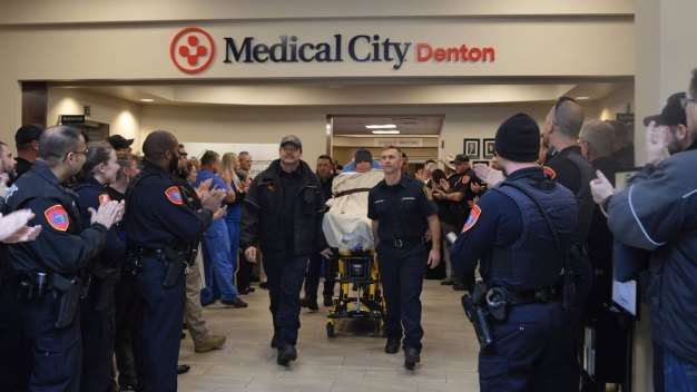 Denton Officer Shot During Traffic Stop Moved to Rehab