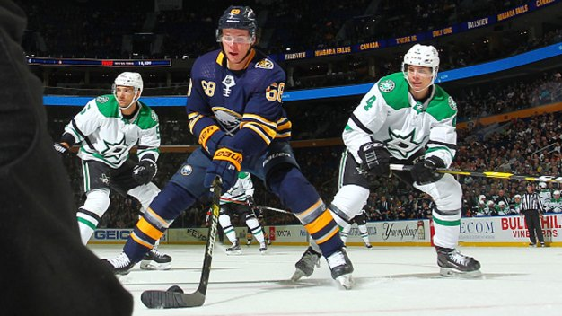 Olofsson Sets Rookie Record in Sabres' Win Over Stars