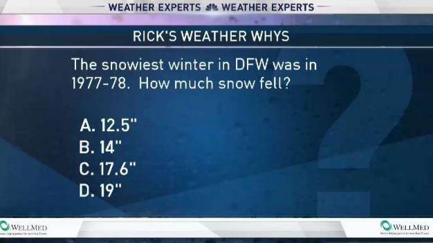 Weather Quiz: DFW's Snowiest Winter