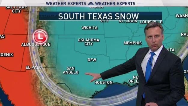 Why South Texas Got Snow But North Texas Didn't
