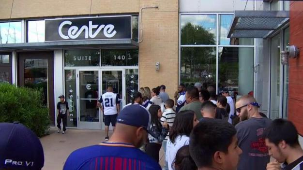 Ezekiel Elliott Made Dreams Come True for Fans at a Pop-Up Store Event