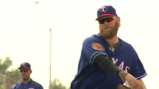 Rangers Pitcher Andrew Cashner on Calf Roping