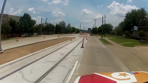 RAW VIDEO: Bishop Arts Trolley Run