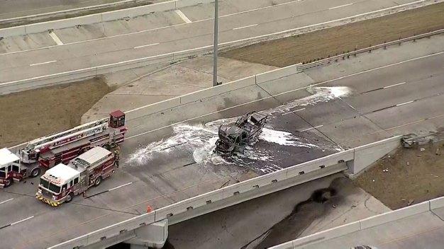 Truck Fire Shuts Down Interstate 30 in Downtown Dallas