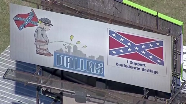 NTX Billboard Backs Confederate Heritage, Impugns Dallas