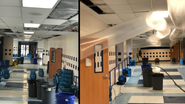 Decatur High School Flooded After Major Storms Hit North TX