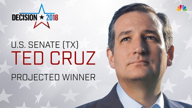 Ted Cruz Wins Senate Race, Holds Off Challenger O'Rourke