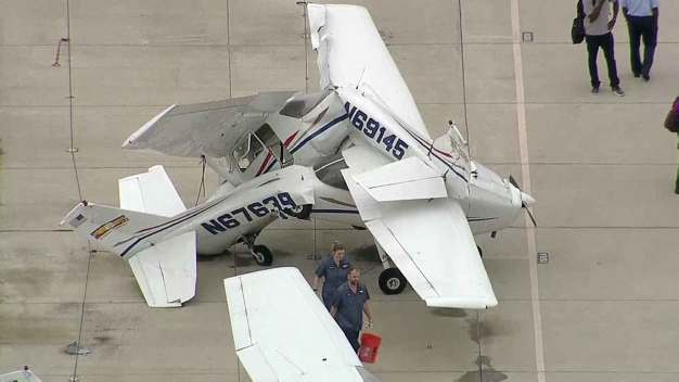 Planes Flipped, Hangars Damaged After Storms in Denton