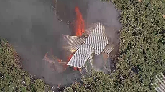 Firefighters Battle Fire at Denton County Residence