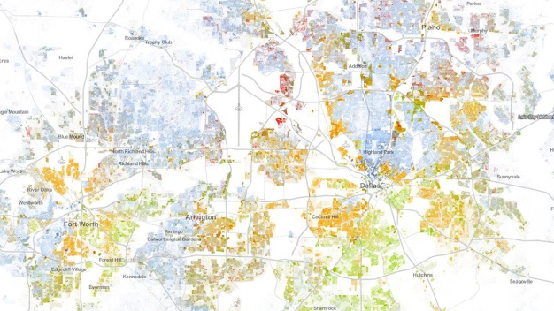 Map Visualizes North Texas' Racial Makeup