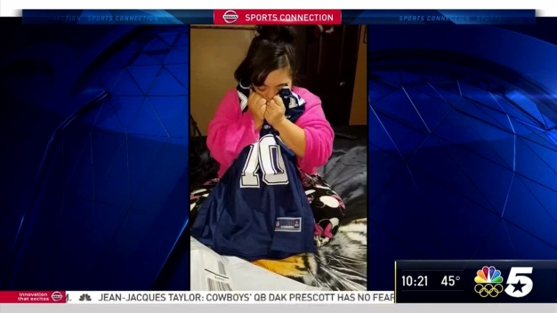 Cowboys Switzer Sends Jersey to Number One Fan