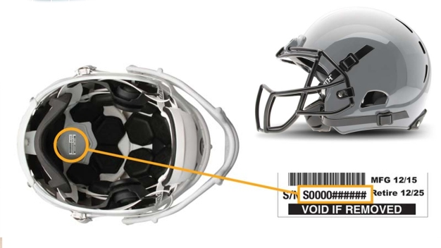 Football Helmets Recalled Due to Head Injury Hazard