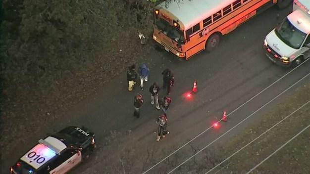 Fort Worth ISD School Bus Involved in Crash