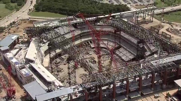 Aerial Tour: Construction Progress at Globe Life Field