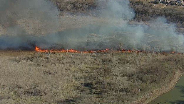 Grass Fire Threatens Trophy Club Neighborhood