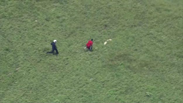 Helicopter Cop Runs Down Suspected Burglar