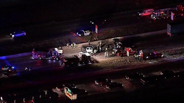 I-35E Shut Down in Denton After Crash