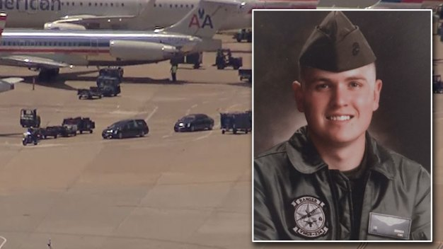 Procession for DFW Marine Killed in Helicopter Crash
