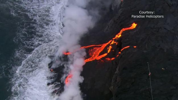 Lava Flows From Hawaiian Volcano