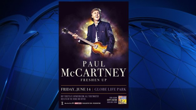 Paul McCartney to Play at Globe Life Park in Arlington