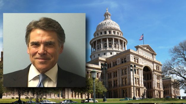 Gov. Rick Perry Booked, Vows