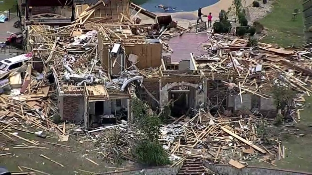 Raw: Texas Sky Ranger Tours Tornado Damage