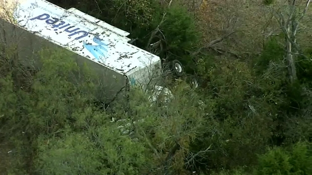 4 Wounded After Moving Truck Serves to Avoid Cow, Crashes