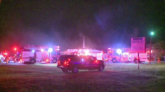 Firefighter Falls, Injures Back Fighting Church Fire
